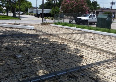 before driveway pour at church