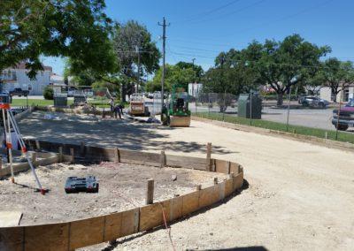 sitework at church driveway